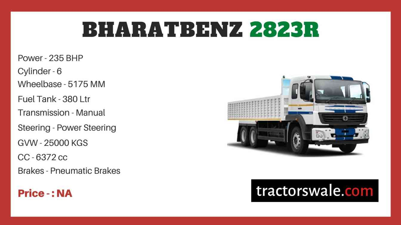 Bharat benz 2823R price
