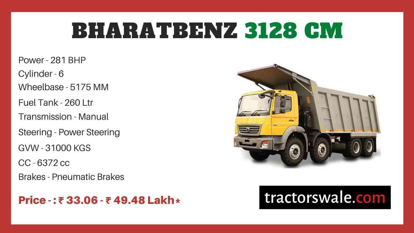 Bharat benz 3128 CM price