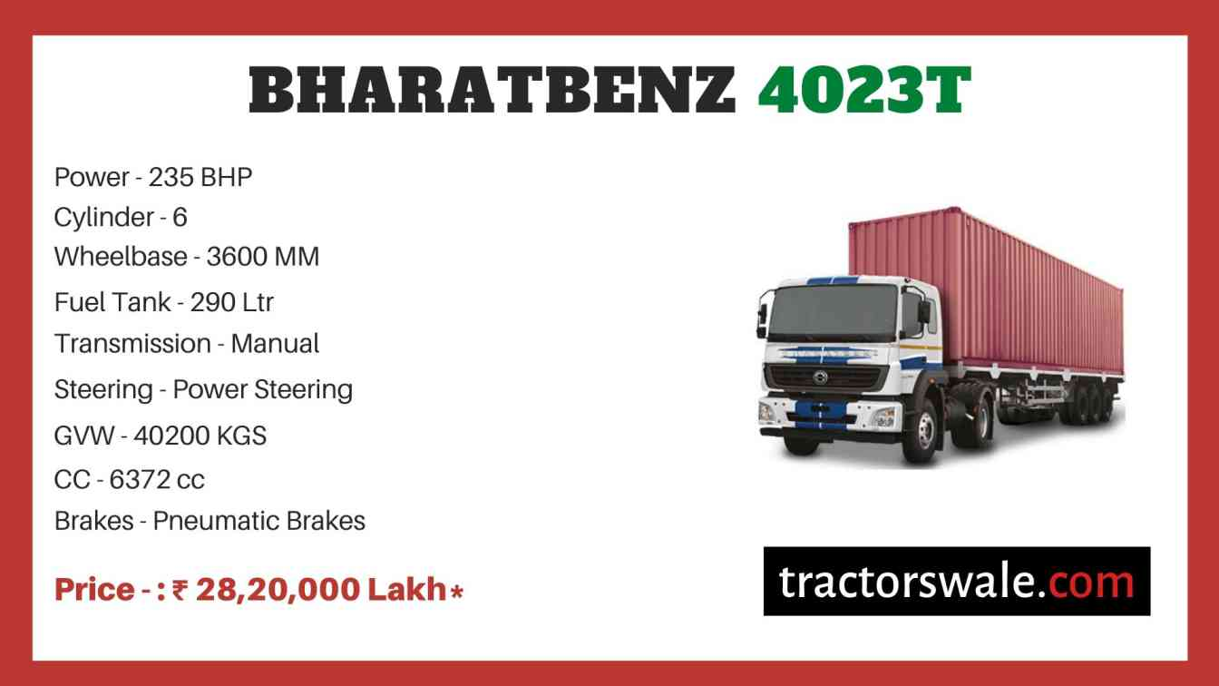 Bharat benz 4023T price
