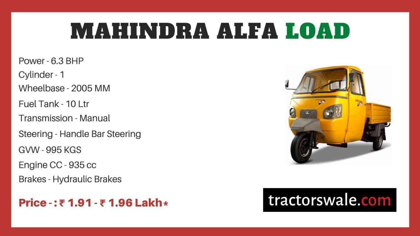 Mahindra Alfa Load Price