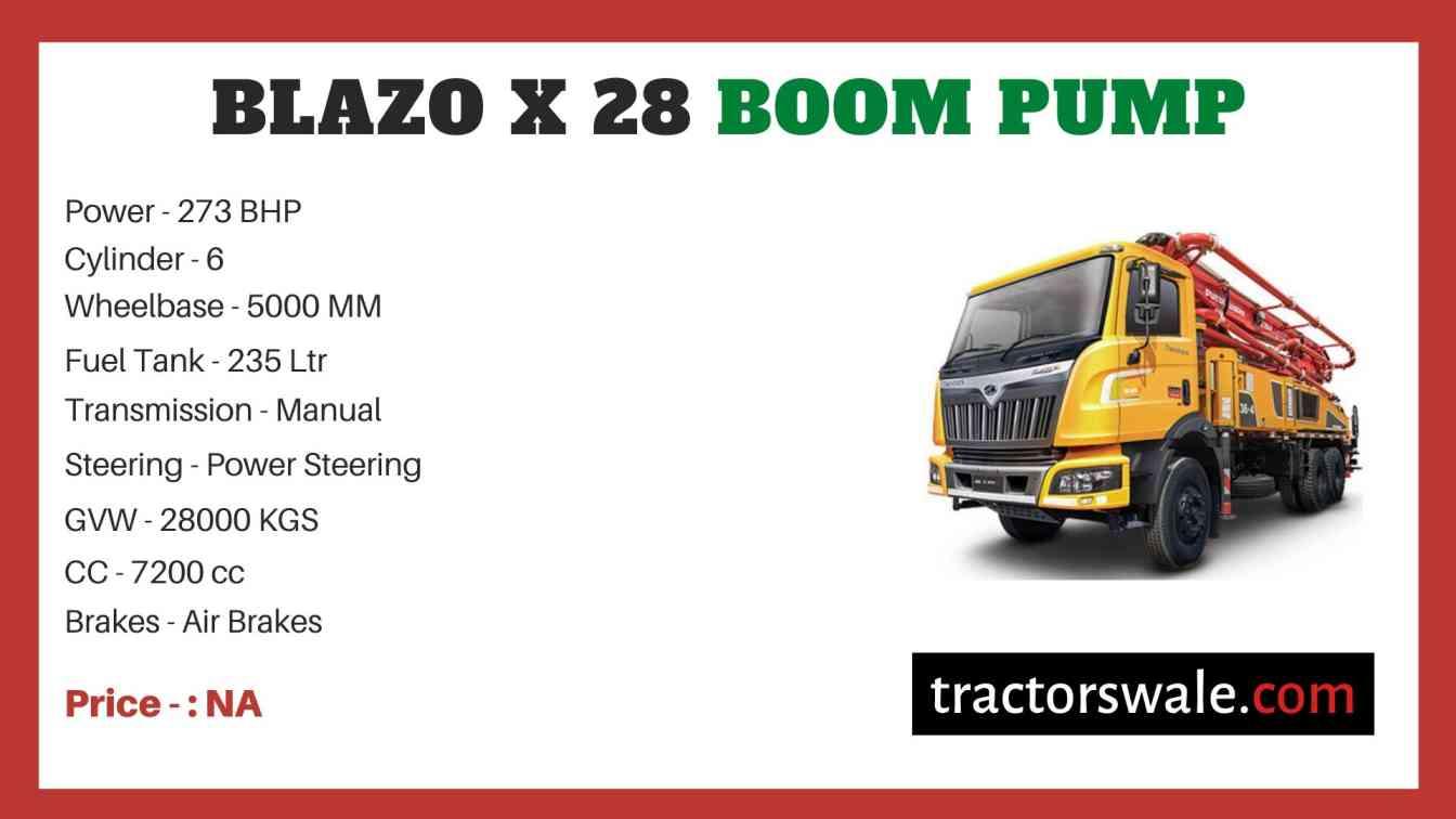 Mahindra BLAZO X 28 BOOM PUMP Price