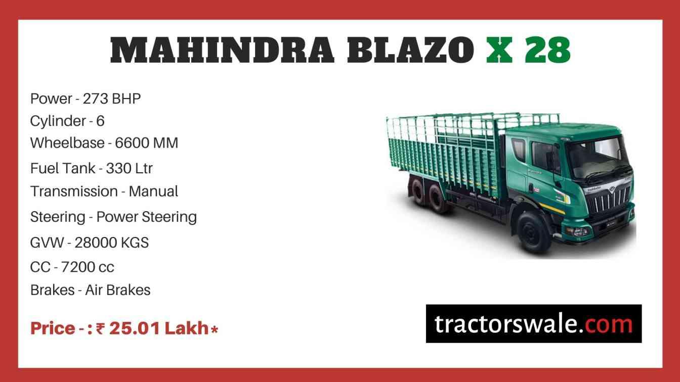Mahindra BLAZO X 28 Price