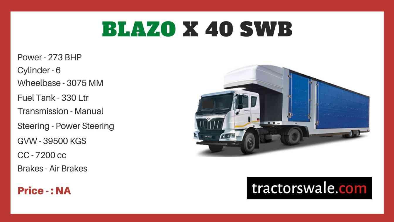 Mahindra BLAZO X 40 SWB Price