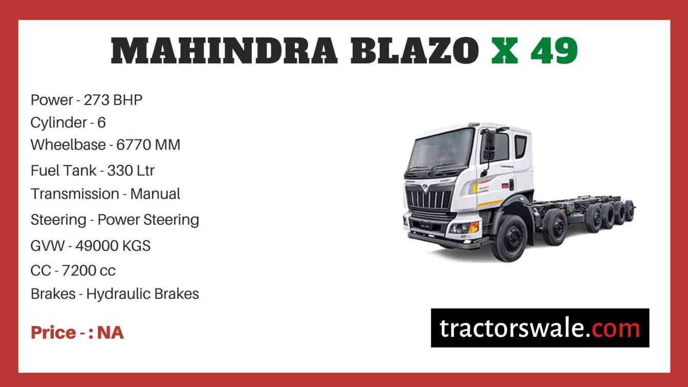 Mahindra BLAZO X 49 Price