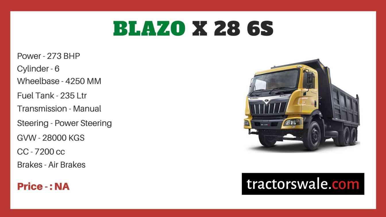 Mahindra Blazo X 28 6S Price