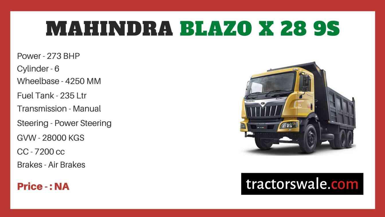 Mahindra Blazo X 28 9S Price