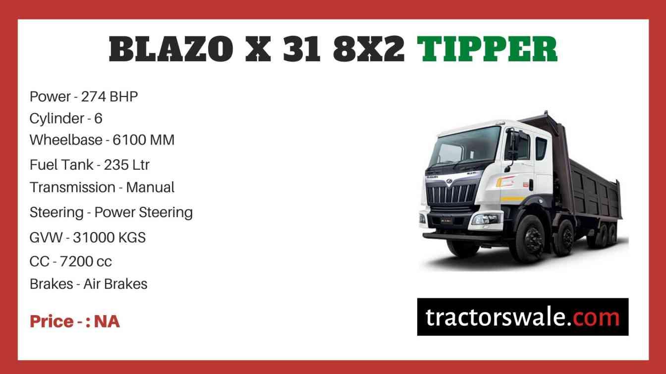 Mahindra Blazo X 31 8X2 Tipper Price