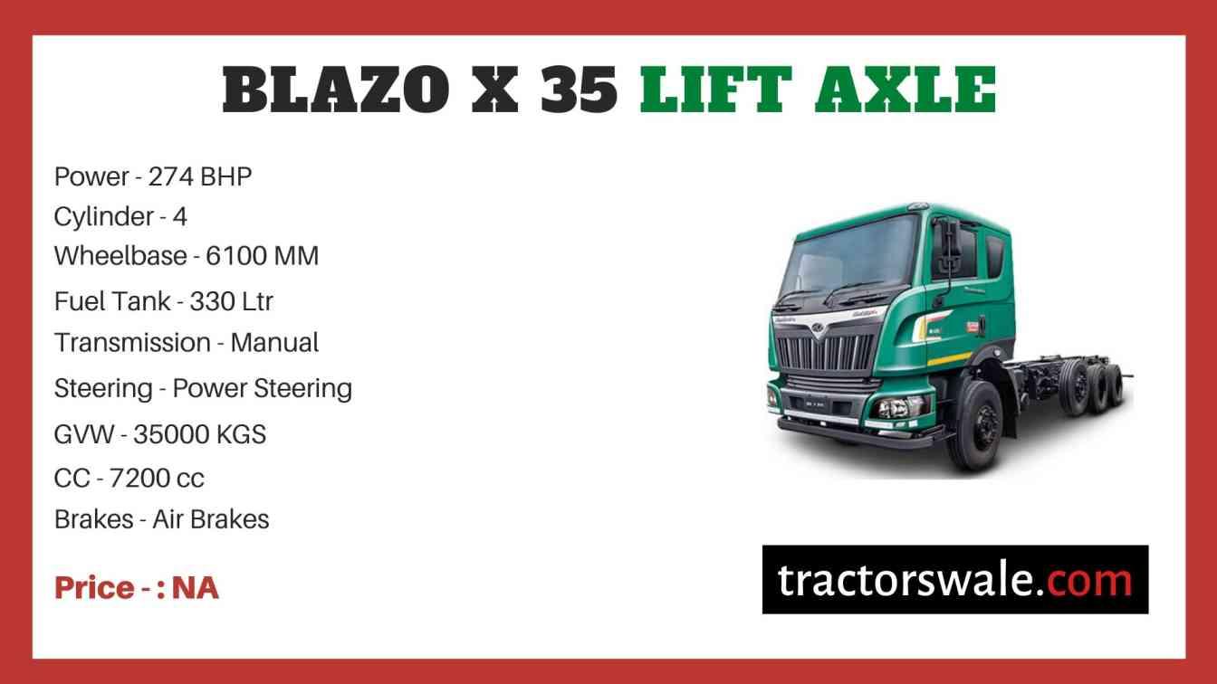 Mahindra Blazo X 35 LIFT AXLE Price