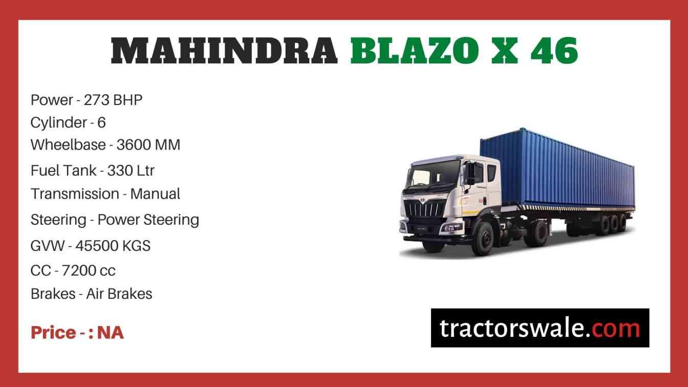 Mahindra Blazo X 46 Price