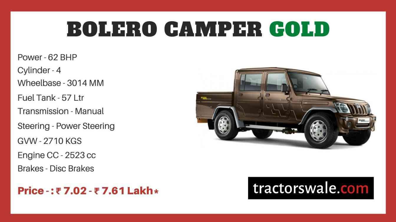 Mahindra Bolero Camper Gold Price