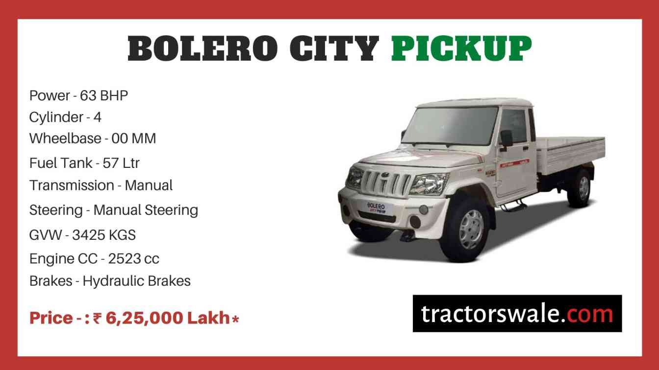Mahindra Bolero City Pickup Price