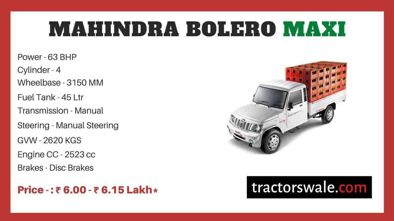 Mahindra Bolero Maxi Price