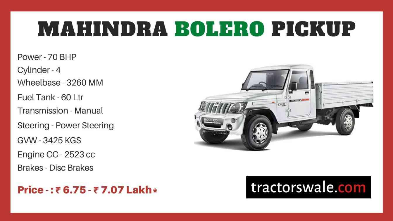 Mahindra Bolero Pickup Price
