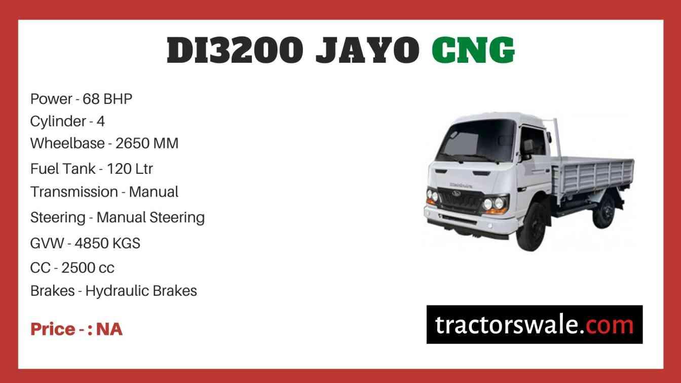 Mahindra DI3200 JAYO CNG Price