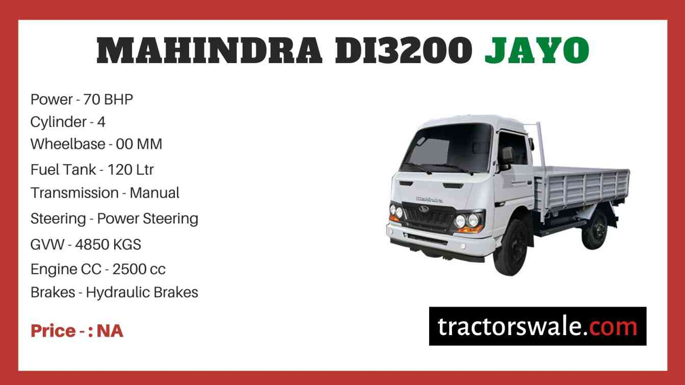 Mahindra DI3200 JAYO Price