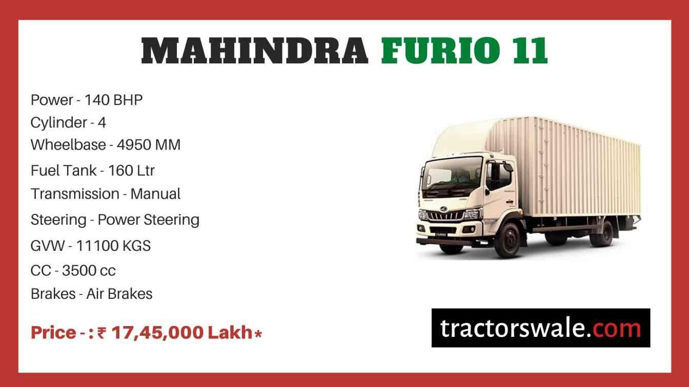 Mahindra Furio 11 Price
