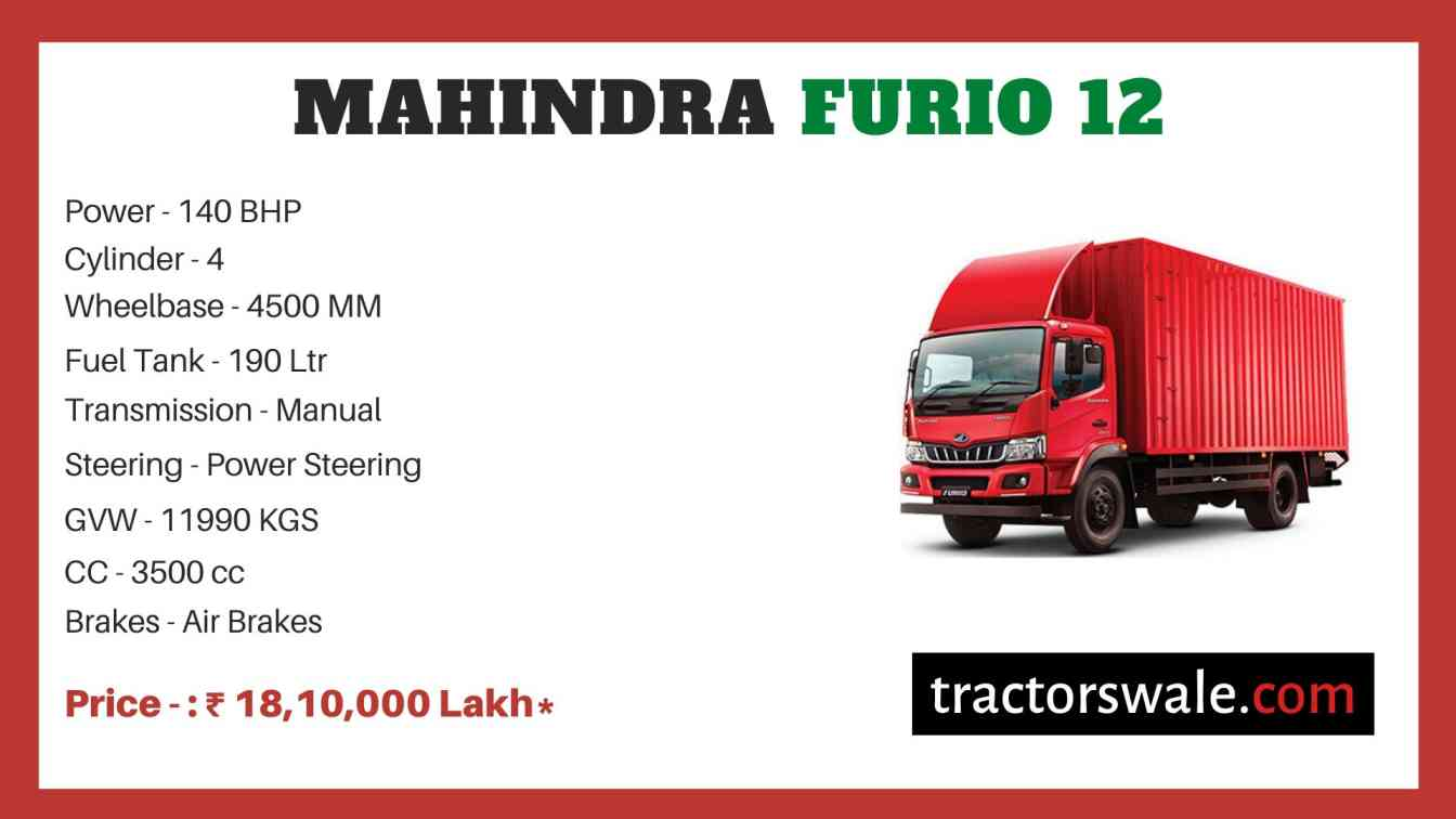 Mahindra Furio 12 Price