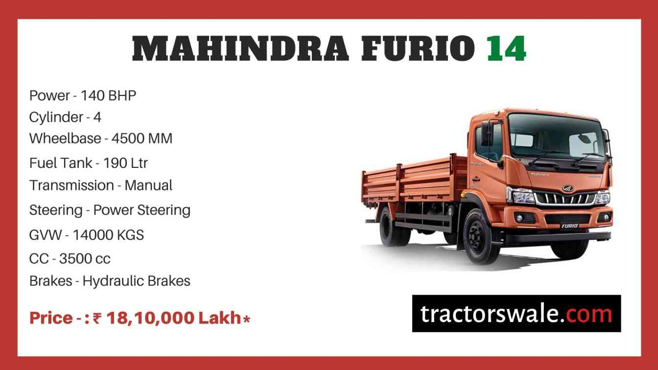 Mahindra Furio 14 Price