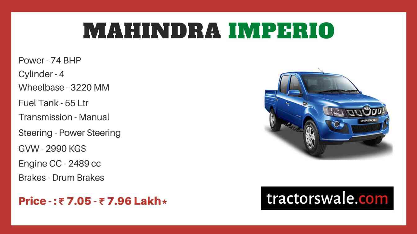 Mahindra Imperio Price