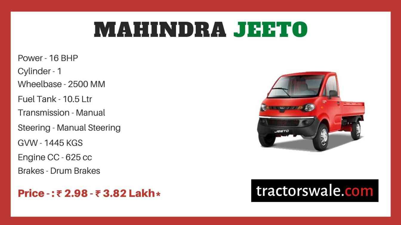 Mahindra Jeeto Price