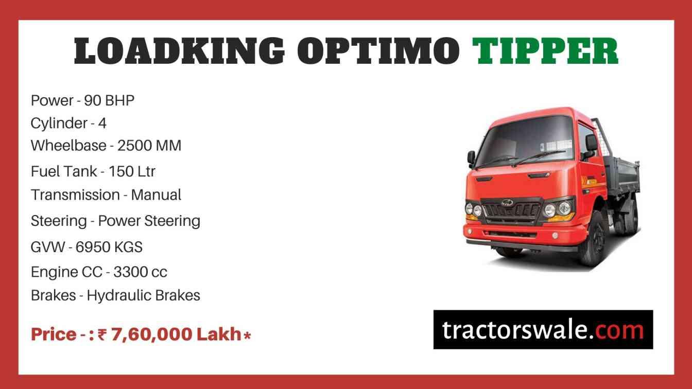 Mahindra Loadking Optimo Tipper Price