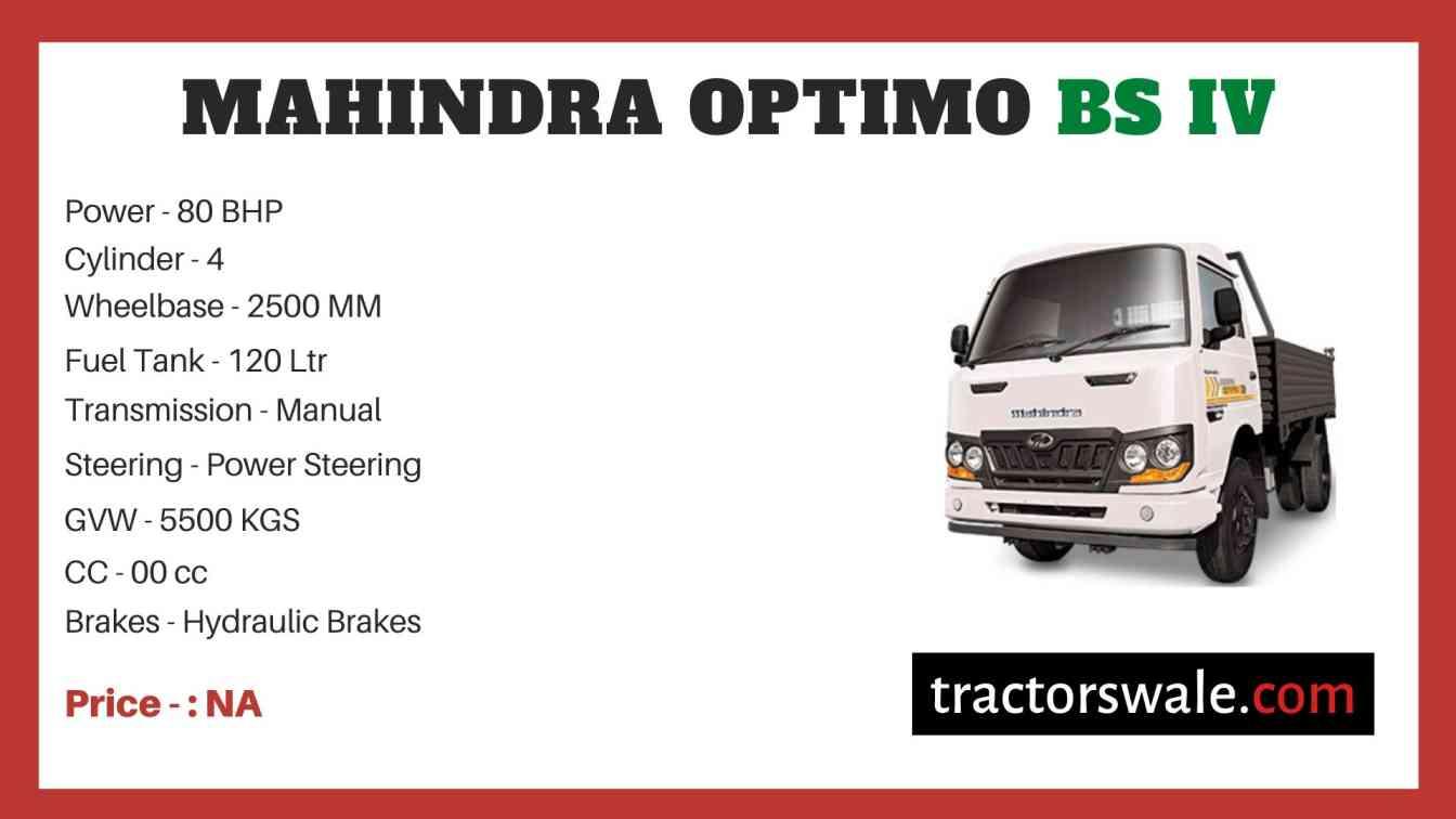 Mahindra OPTIMO BS IV Price
