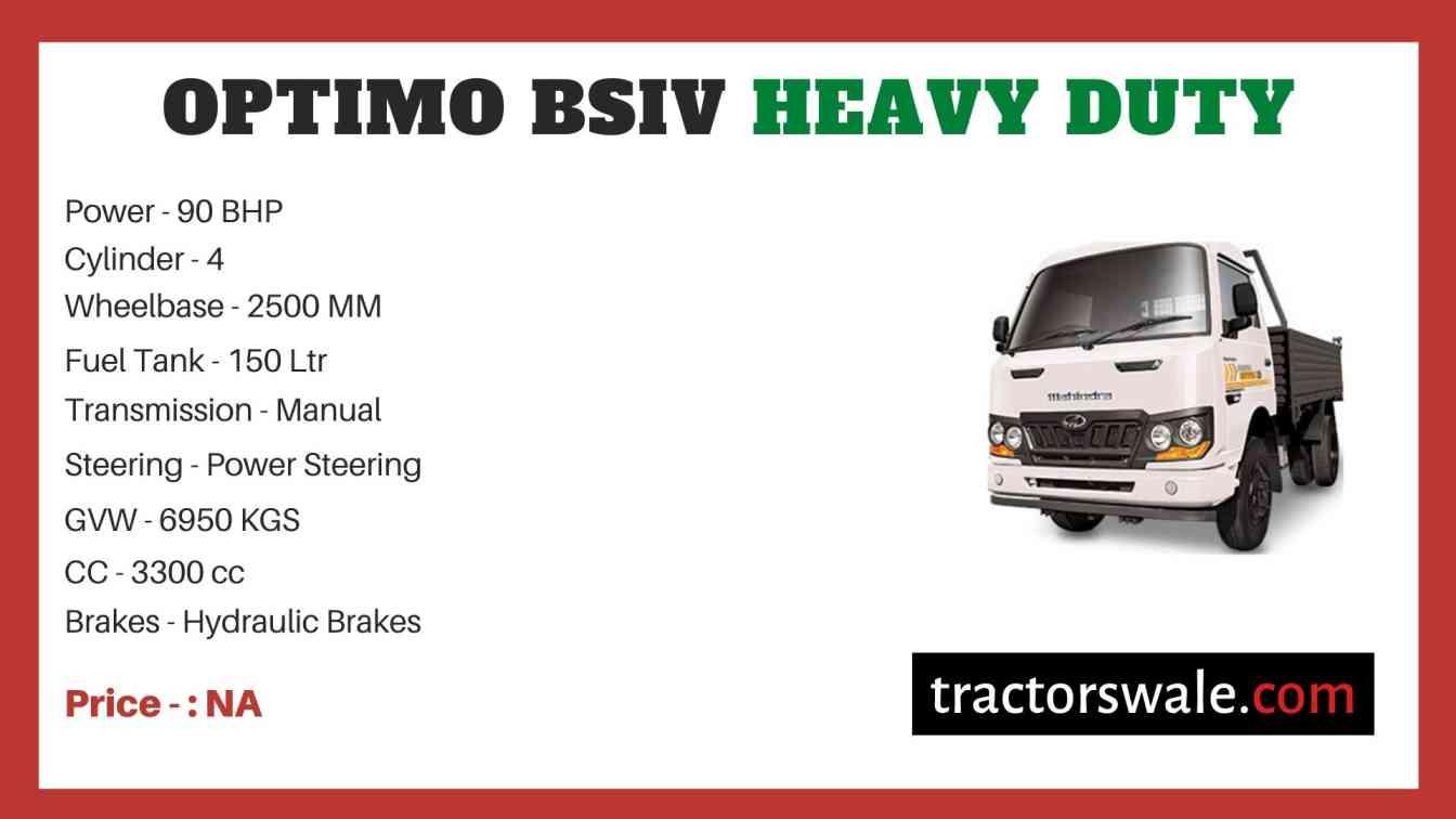 Mahindra OPTIMO BSIV HEAVY DUTY Price