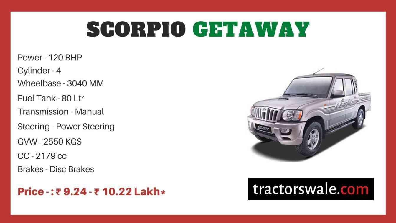 Mahindra Scorpio Getaway Price