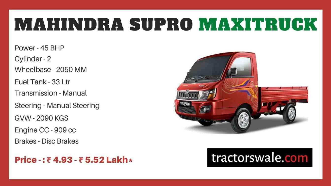 Mahindra Supro Maxitruck Price