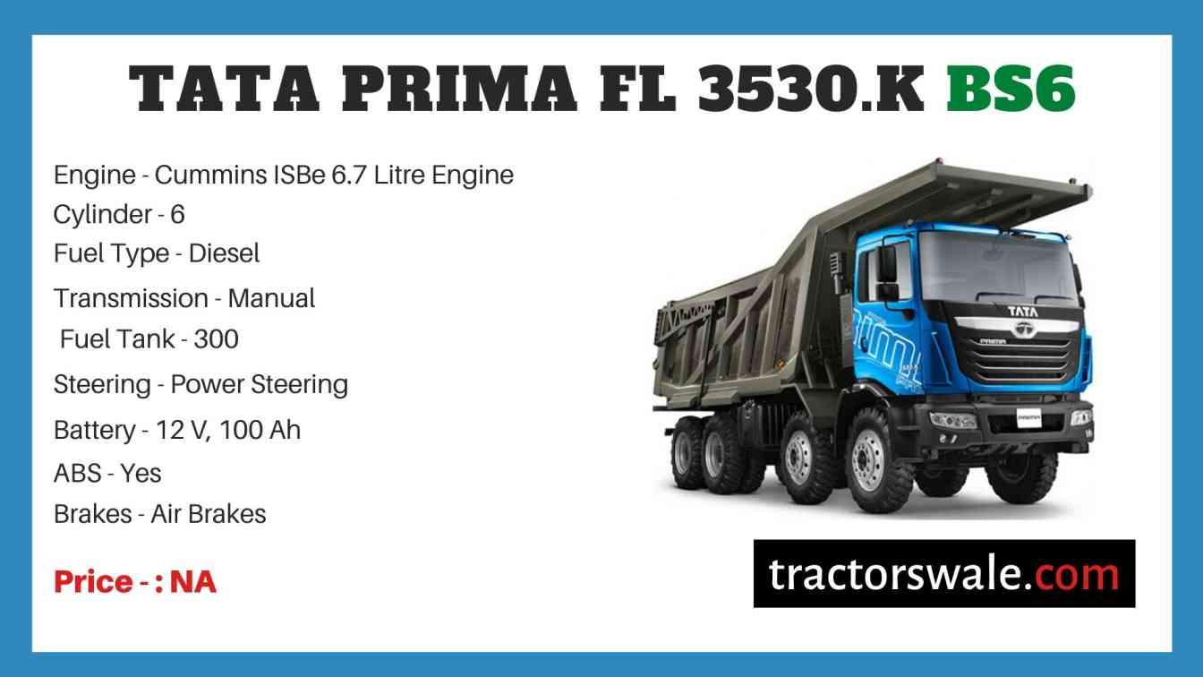 Tata Prima FL 3530.K BS6 Price