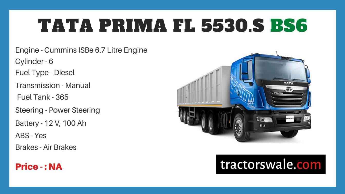 Tata Prima FL 5530.S BS6 Price