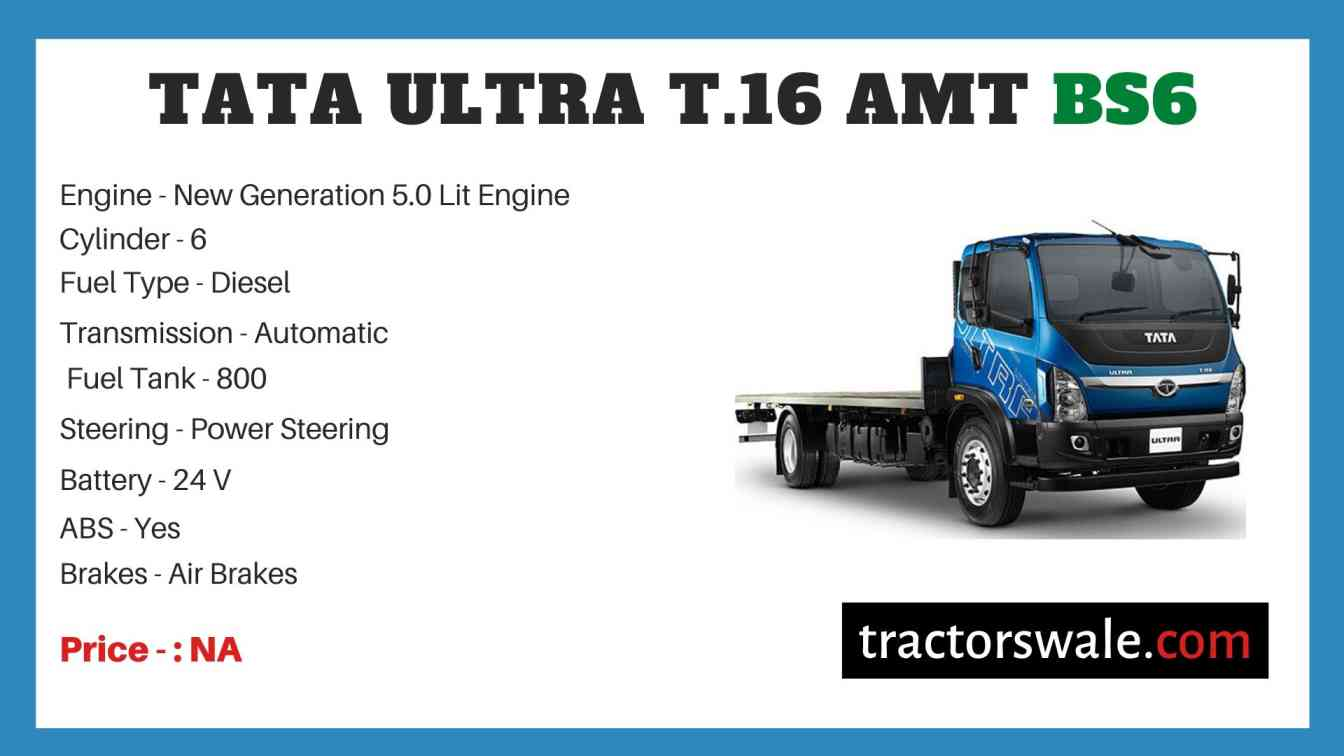 Tata Ultra T.16 AMT BS6 Price