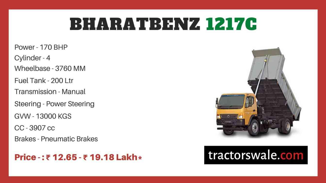 bharat benz 1217C price