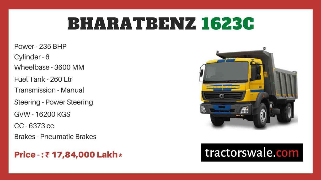 bharat benz 1623C price