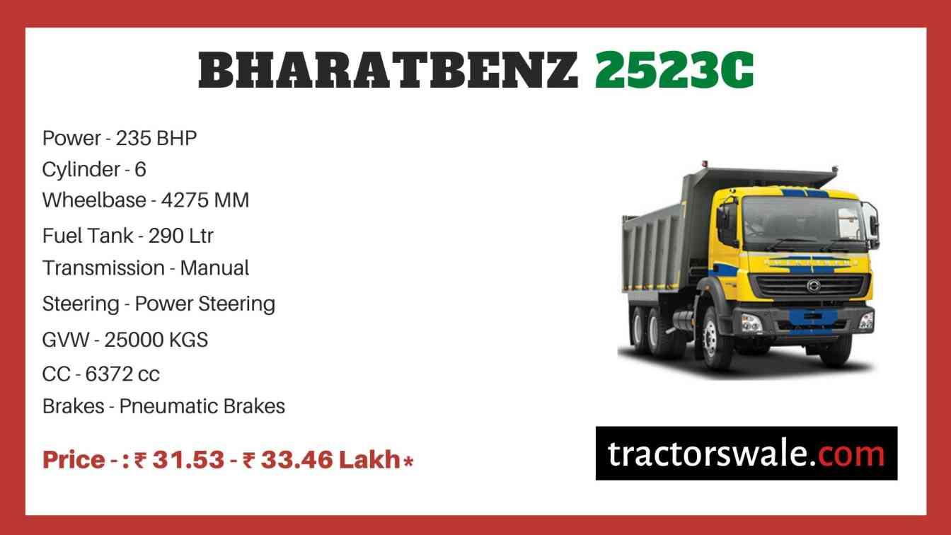 bharat benz 2523C price