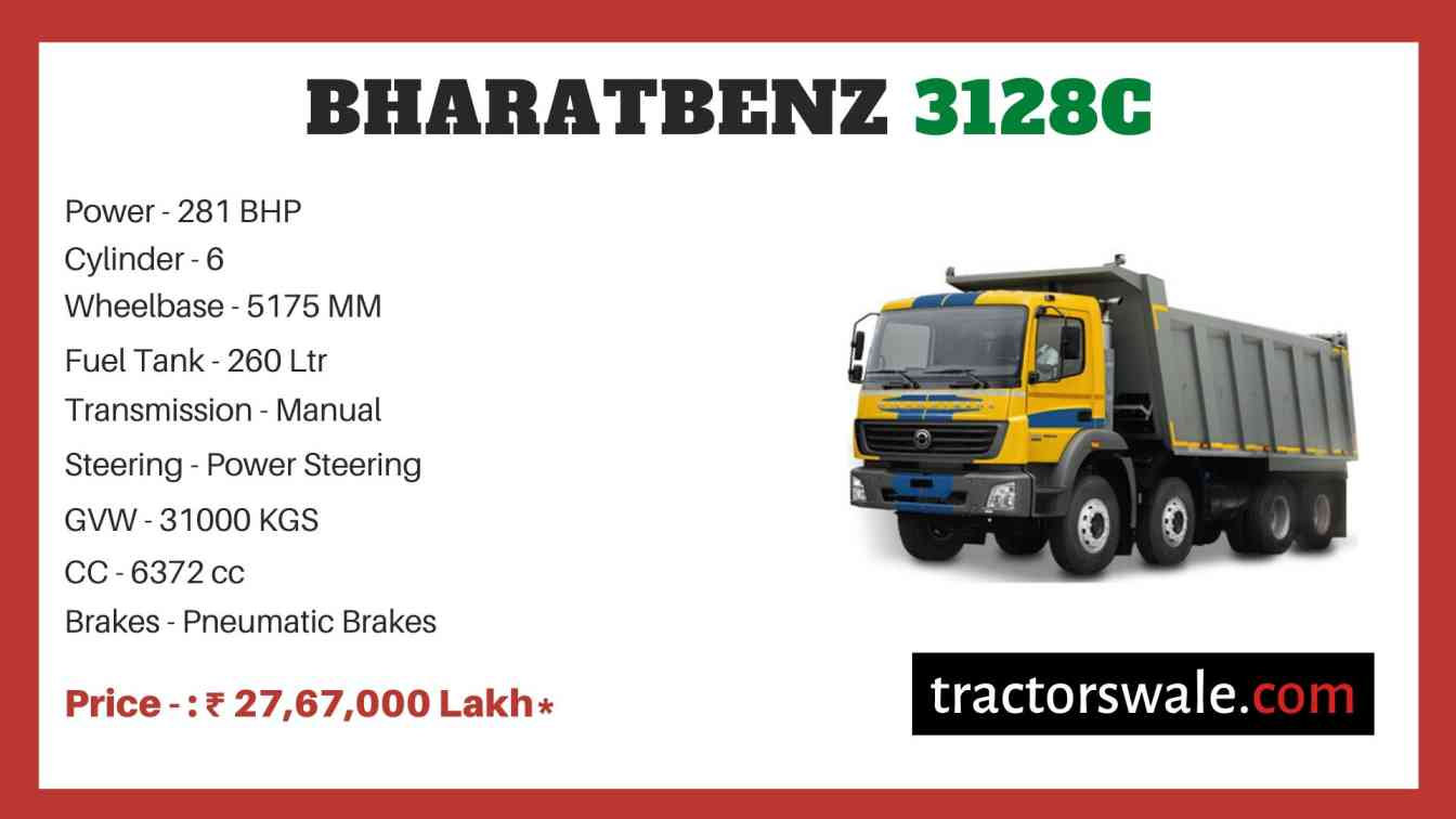 bharat benz 3128C price