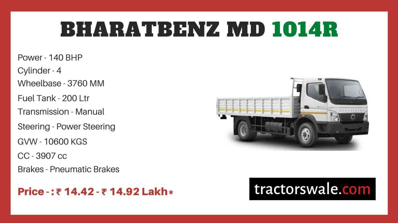 bharat benz MD 1014R price