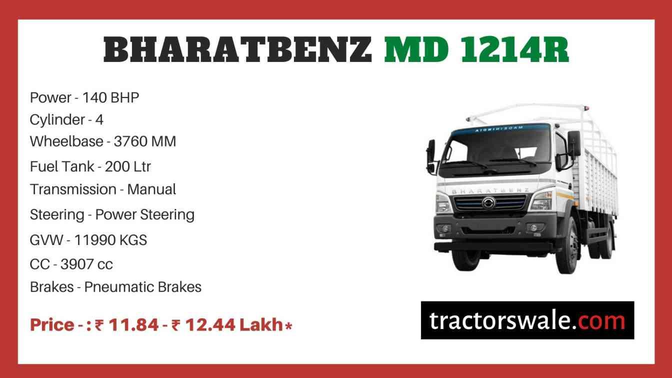 bharat benz MD 1214R price