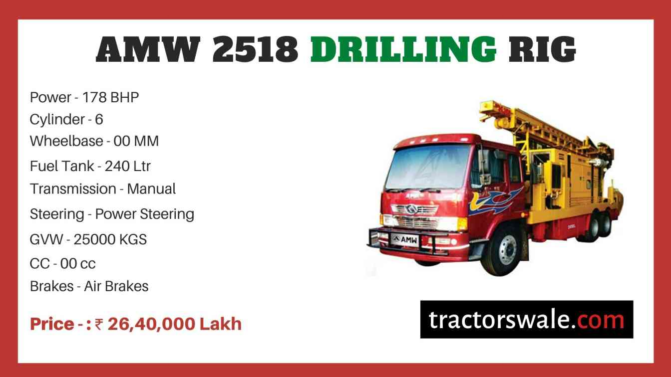 AMW 2518 Drilling Rig price