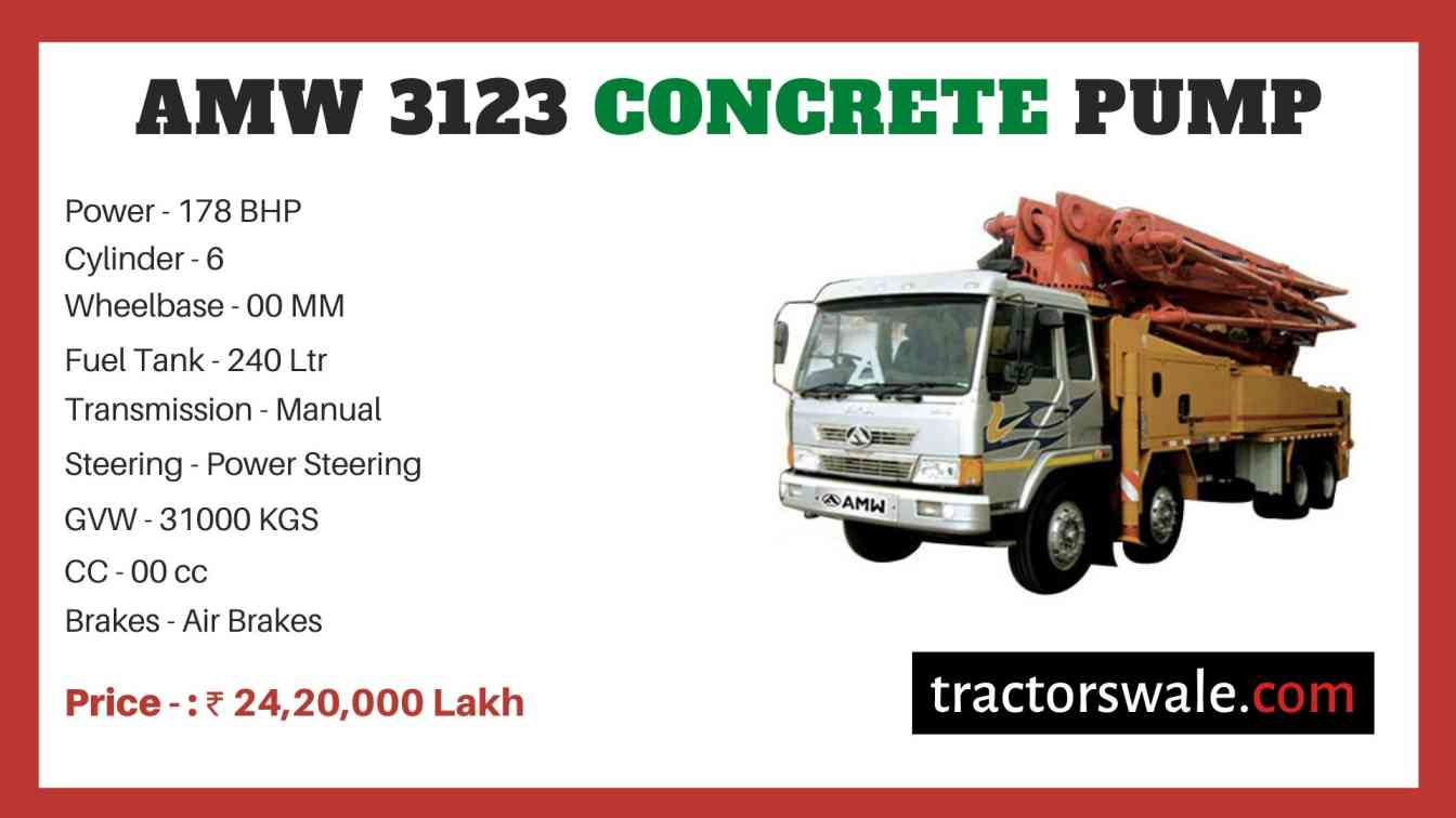 AMW 3123 Concrete Pump price