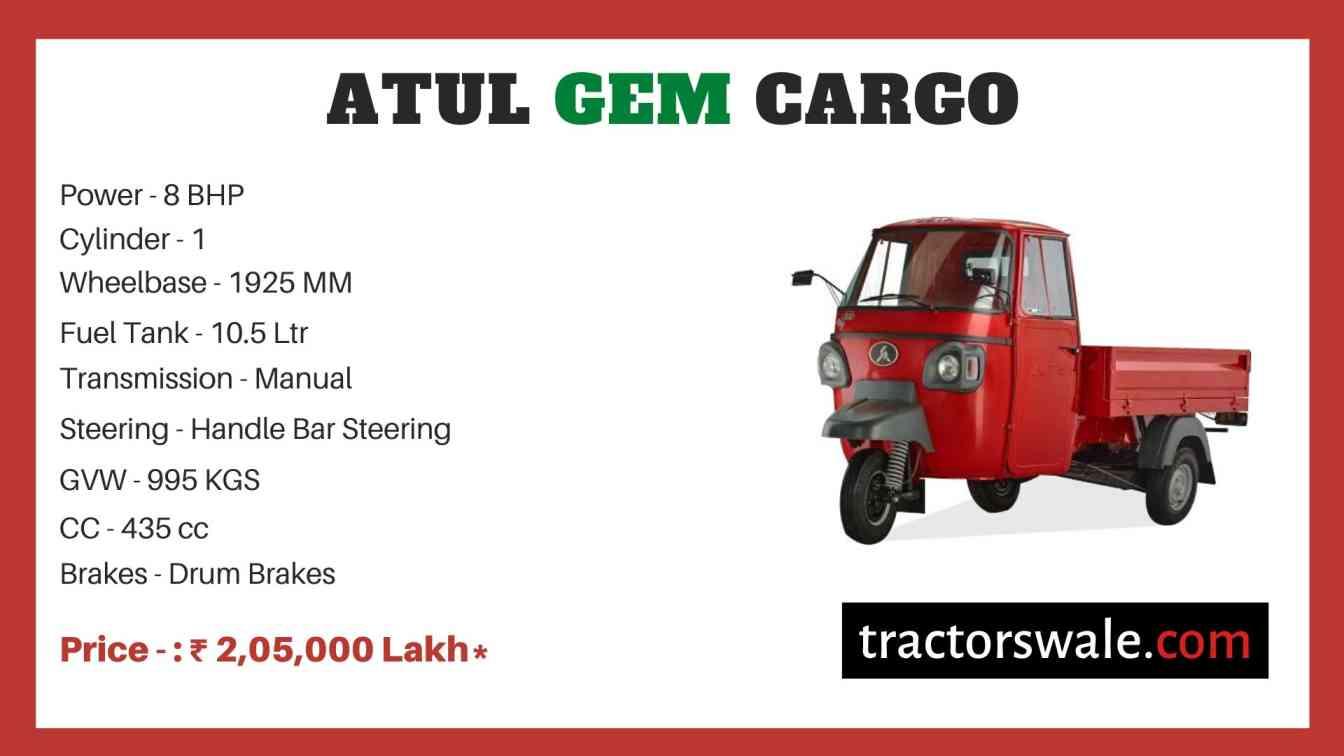 Atul GEM Cargo price