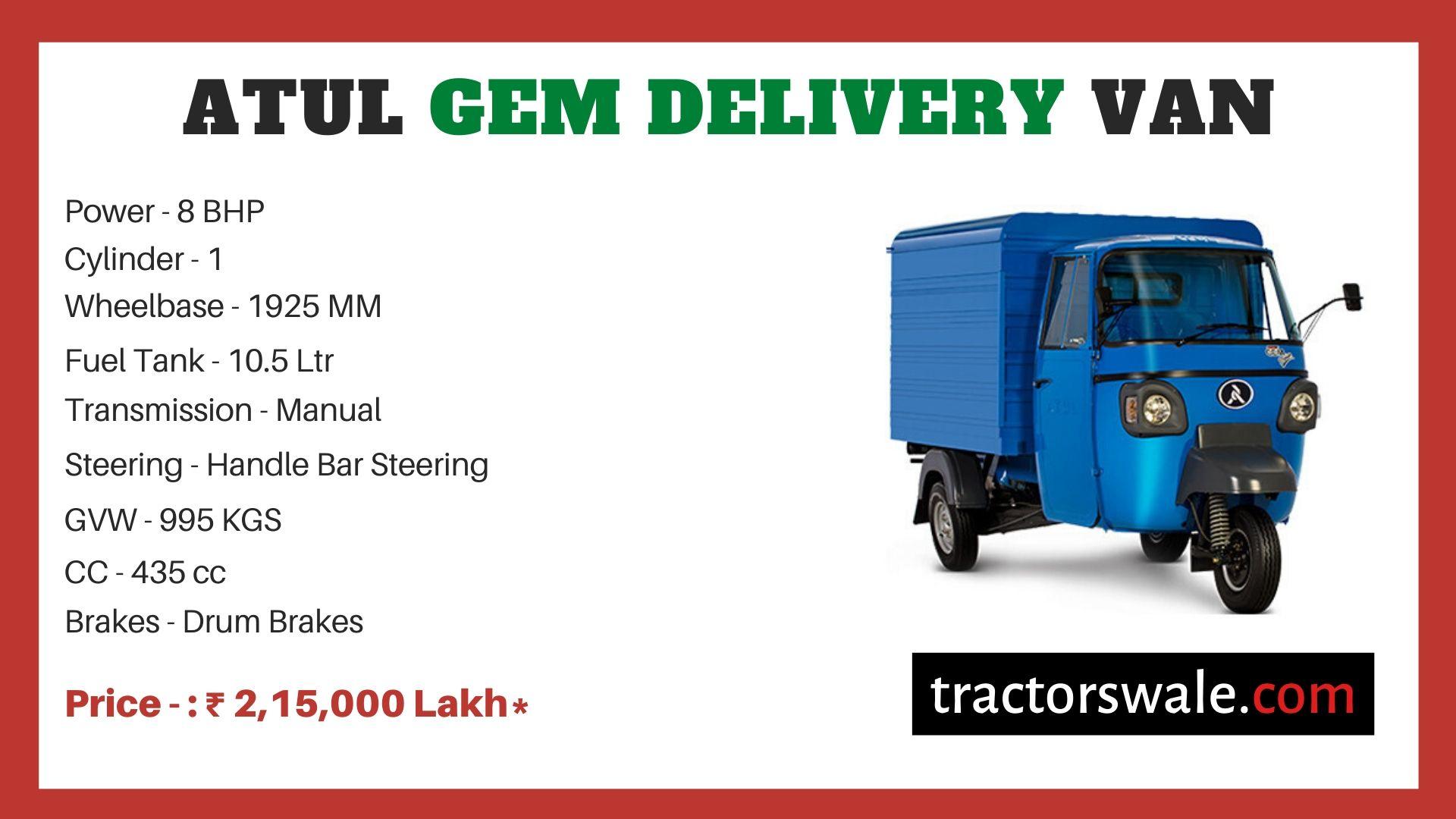 Atul GEM Delivery Van price