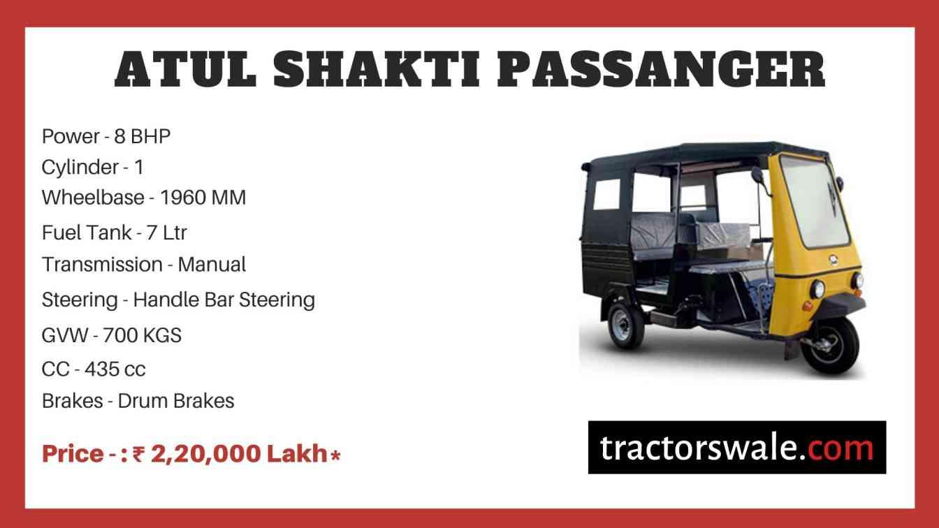 Atul Shakti Passanger price