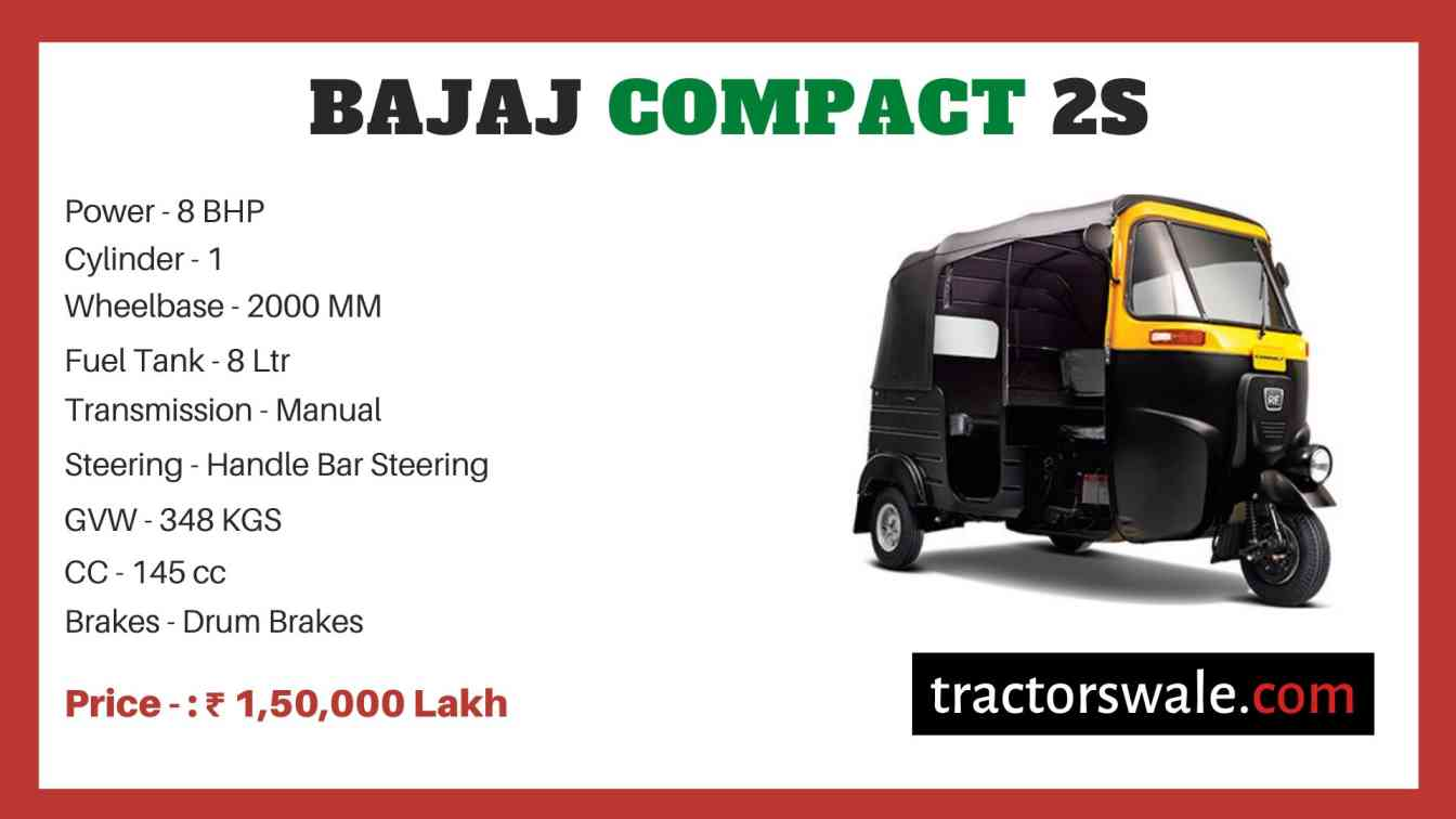 Bajaj Compact 2S price