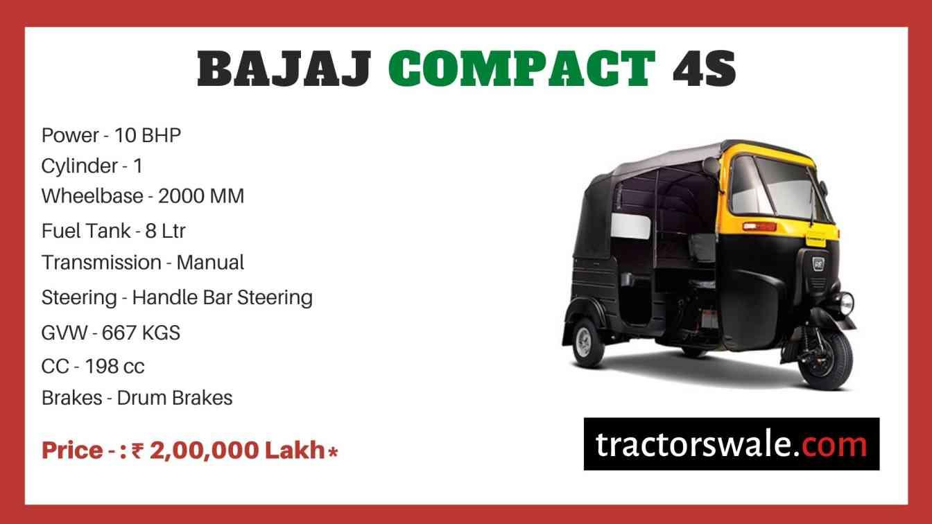 Bajaj Compact 4S price