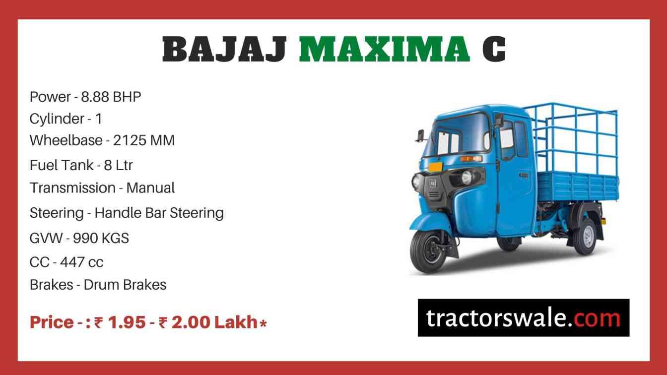 Bajaj Maxima C price