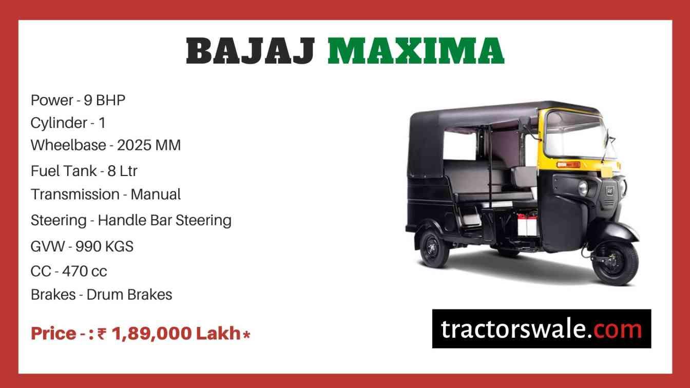 Bajaj Maxima price