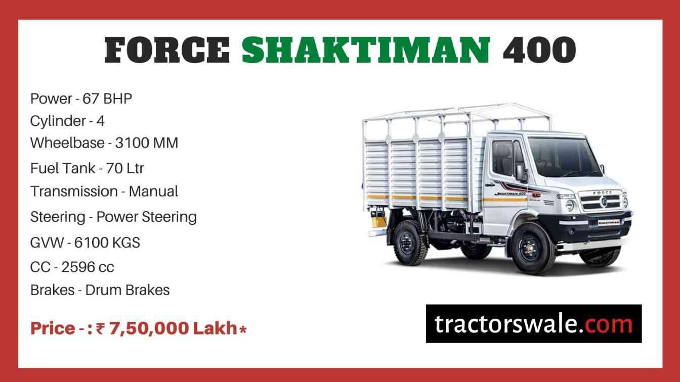 Force SHAKTIMAN 400 price
