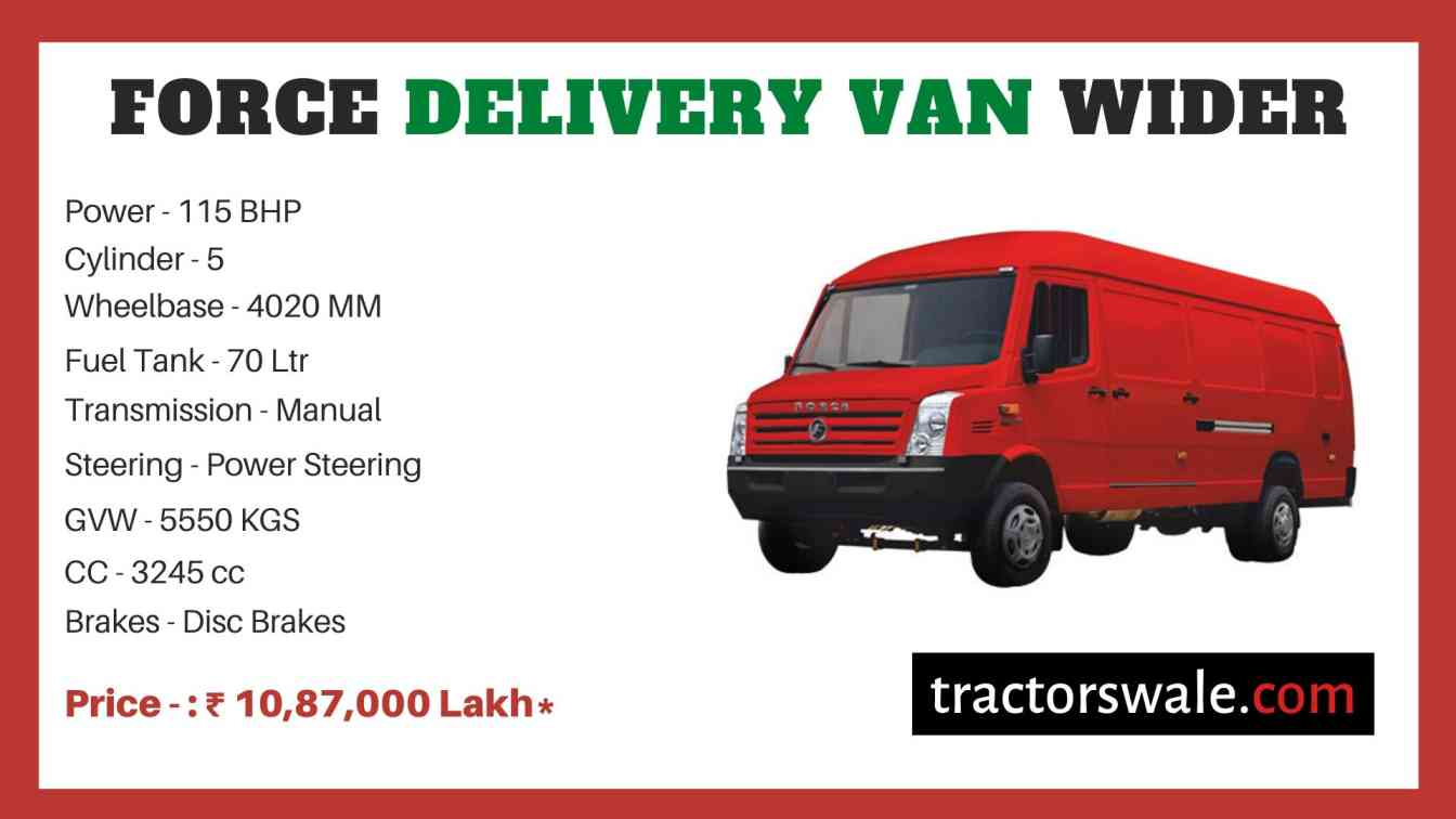 Force Traveller Delivery Van Wider price