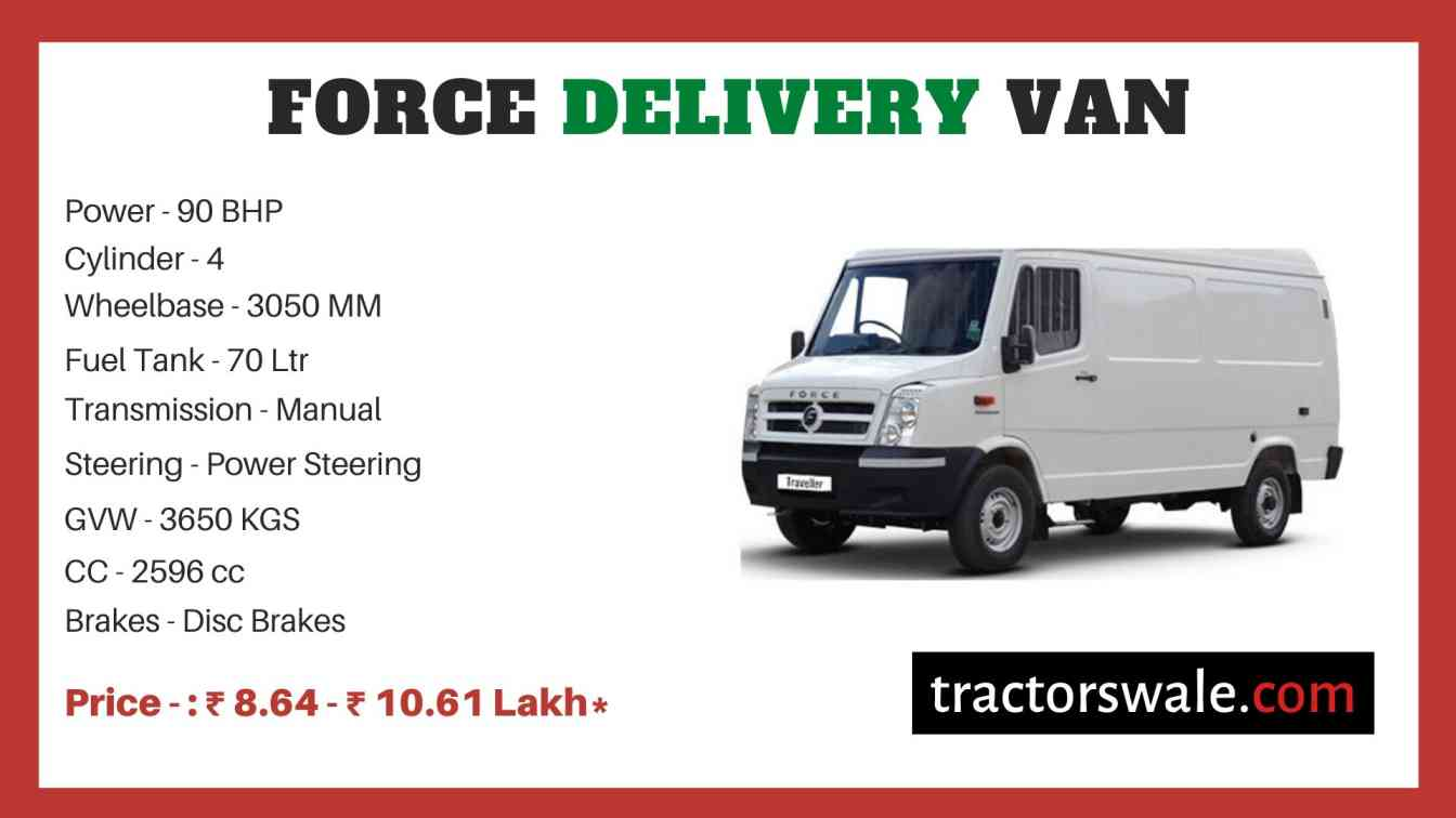 Force Traveller Delivery Van price